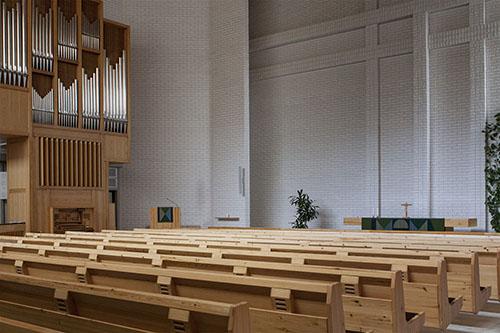 Kallaveden kirkon kirkkosali