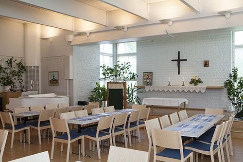 Karttulan seurakuntakodin seurakuntasali